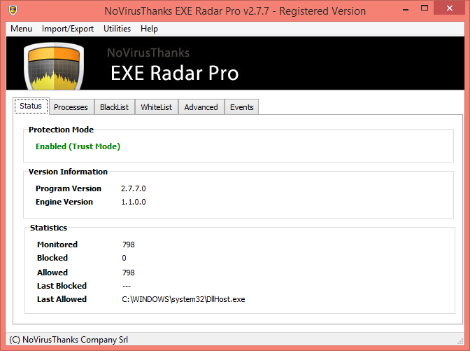 NoVirusThanks EXE Radar Pro GUI